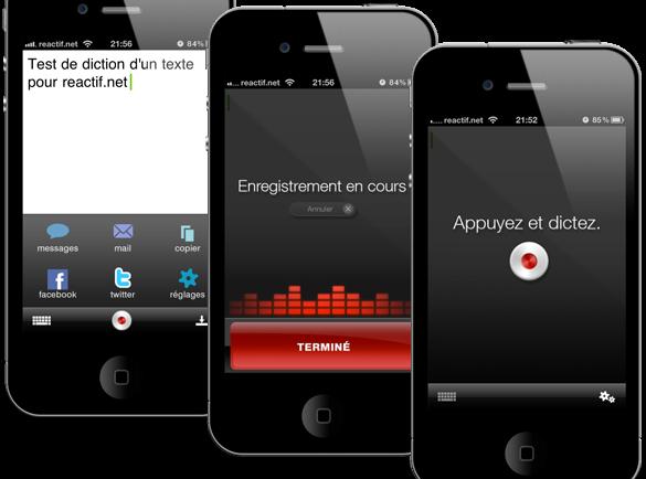 dictez vos sms votre iphone avec dragon dictation. Black Bedroom Furniture Sets. Home Design Ideas